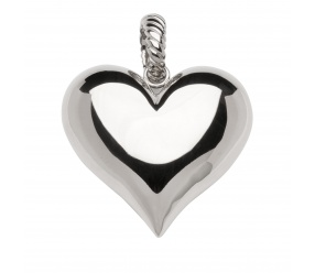 zawieszka/wisiorek magnetyczna ze stali szlachetnej 2121-1 polerowane duże serce