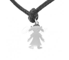 Srebrna zawieszka do bransoletki pr.925 dziewczynka do grawerowania