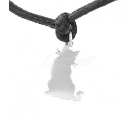Srebrna zawieszka do bransoletki pr.925  kotek do grawerowania