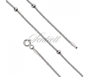 Bransoletka srebrna pr.925 daisy chain bead Ø 25 waga od 1,4g