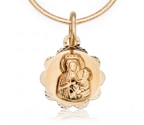 Staviori Wisiorek. Medalik. Żółte Złoto 0,585. Średnica 10 mm. Długość 15 mm.