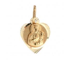 Staviori Wisiorek. Medalik. Żółte Złoto 0,585. Wymiary 11x14 mm. Długość 20 mm.