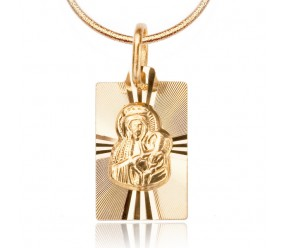 Staviori Medalik z Matką Boską. Żółte Złoto 0,585.