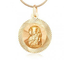 Staviori Wisiorek. Medalik. Żółte Złoto 0,585. Średnica 15 mm. Długość 21 mm.
