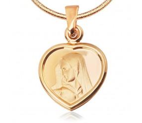 Staviori Wisiorek. Medalik. Żółte Złoto 0,333. Szerokość 14 mm. Długość 22 mm.