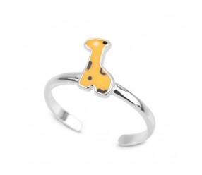 Staviori Pierścionek. Emalia. Srebro 0,925. Średnica korony ok. 6x10 mm. Szerokość obrączki ok. 2,1 mm.  Pierścionek dopasowuje się do rozmiaru palca.