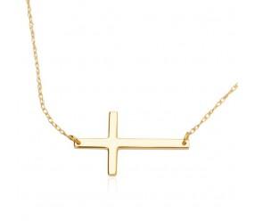 Staviori Naszyjnik. Krzyżyk. Żółte Złoto 0,585.