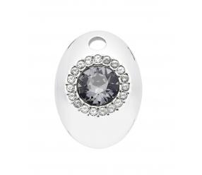 Wisiorek/zawieszka ze stali szlachetnej i magnesem neodymowym 2627-3 oraz dużym Kryształem Swarovskiego