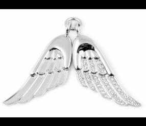 zawieszka magnetyczna 1749-1 skrzydła anielskie z kryształkami