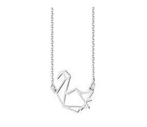 Srebrny naszyjnik pr.925 - sztuka Origami łabędź