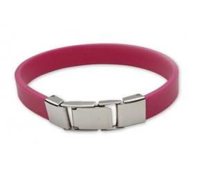 bransoletka silikonowa 611-12 różowa dla dzieci