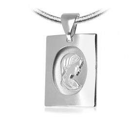 Staviori Wisiorek. Medalik Maryja. Srebro 0,925.