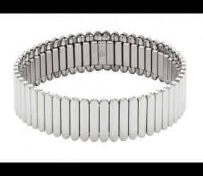 Elastyczna Bransoletka magnetyczna 3622-1 ze stali szlachetnej i miedzią, polerowana