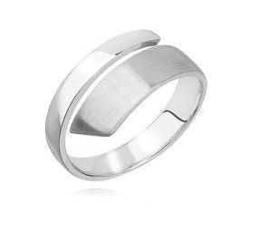 Srebrny pierścionek pr.925 satynowany