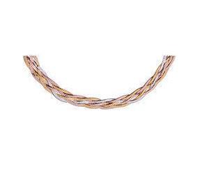 Łańcuszek srebrny 925 taśma pleciona warkocz waga od 16,0g - złoto i różowe złoto