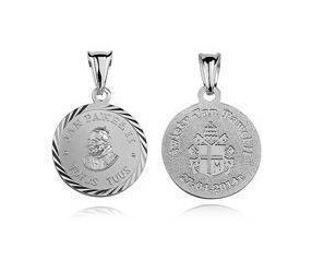 Srebrny medalik Papież Święty Jan Paweł II