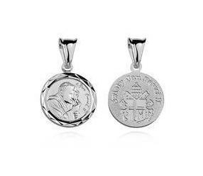 Srebrny medalik Święty Jan Paweł II