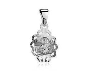 Srebrny ozdobny medalik pr.925 Matka Boska Częstochowska