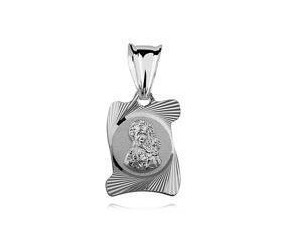 Srebrny medalik zwój Matka Boska Częstochowska