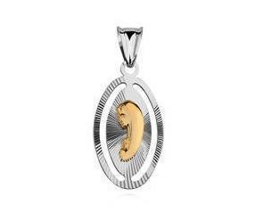 Srebrny medalik Matka Boska / Madonna - złoty