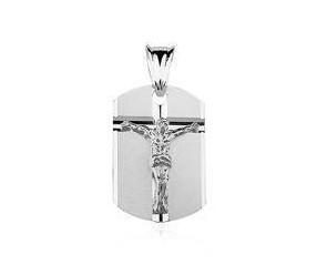 Srebrny medalik Jezus na krzyżu