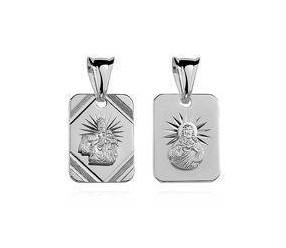 Srebrny medalik pr.925 Matka Boska Szkaplerzna