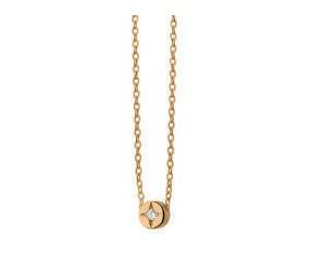 Srebrny naszyjnik pr.925 z okrągłą zawieszką złocony