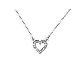 Srebrny naszyjnik pr.925 delikatne serce z cyrkoniamii