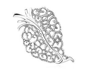 Srebrna broszka pr.925  ażurowy Liść