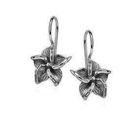Srebrne kolczyki pr.925 eleganckie kwiatki