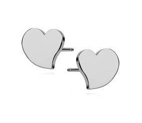 Srebrne kolczyki serca