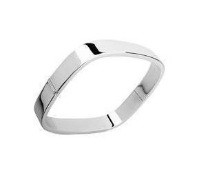 Bangle Bransoletka srebrna pr.925 kwadratowa szerokość 9mm