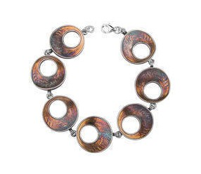 Srebrna bransoletka pr.925 oksydowana