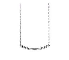 Srebrny naszyjnik pr.925 ze srebrną rurką