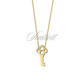 Srebrny naszyjnik pr.925 pozłacany z kluczykiem