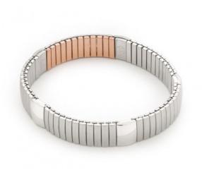 bransoletka magnetyczna elastyczna ze stali chirurgicznej 1045 z siłą magnesu 6000 Gaussów i polerowanymi ogniwami