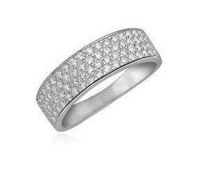 Srebrny, elegancki pierścionek pr.925 z cyrkoniami