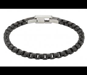 bransoletka magnetyczna 3527-1 ogniwa platerowane czernią