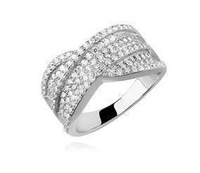 Srebrny pierścionek pr.925 cyrkonia biała