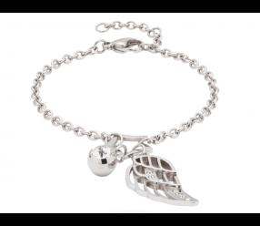 Bransoletka magnetyczna 3235 skrzydło anioła z kryształem Swarovskiego