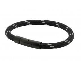 bransoletka magnetyczna czarna 2765 linka żeglarska