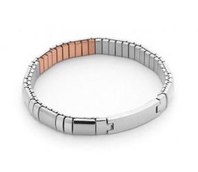 bransoletka magnetyczna 183-12 z polerowanymi elementami ze Stali Szlachetnej