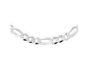 Łańcuszek diamentowany figaro oczka płaskie pr. 925 Ø 0200