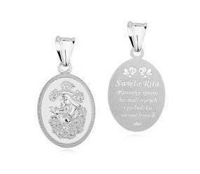 Srebrny medalik pr.925 - Święta Rita