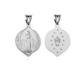 Srebrny medalik pr.925 Matka Boska Nieustającej Pomocy