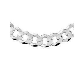 Męski łańcuszek srebrny Pancerka diamentowana płaska pr. 925