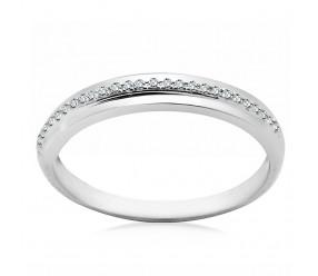 Staviori Pierścionek. 27 Diamentów, szlif brylantowy, masa 0,07 ct., barwa H-I, czystość I1-I2. Białe Złoto 0,585. Szerokość obrączki ok. 2 mm.