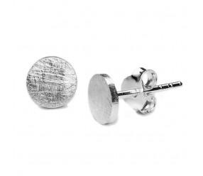 Staviori Kolczyki. Srebro 0,925. Średnica 6 mm.   Metal: 925    Wymiary: 6x6 mm       Piękne i wyraziste kolczyki. Szczotkowane srebro daje spektakularny efekt wizualny. Te kolczyki, jak i cały komplet są absolutnie rewelacyjne.