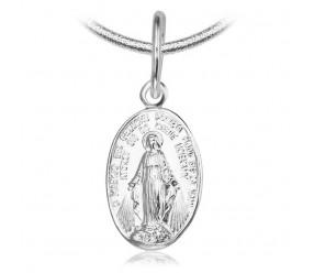 Staviori Wisiorek. Medalik Maryja Srebro 0,925. Wymiary 8x13 mm. Długość 21 mm.