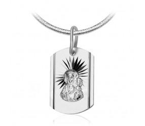Medalik Matka Boska. Srebro 0,925. Wymiary 12x18 mm. Długość 25 mm.